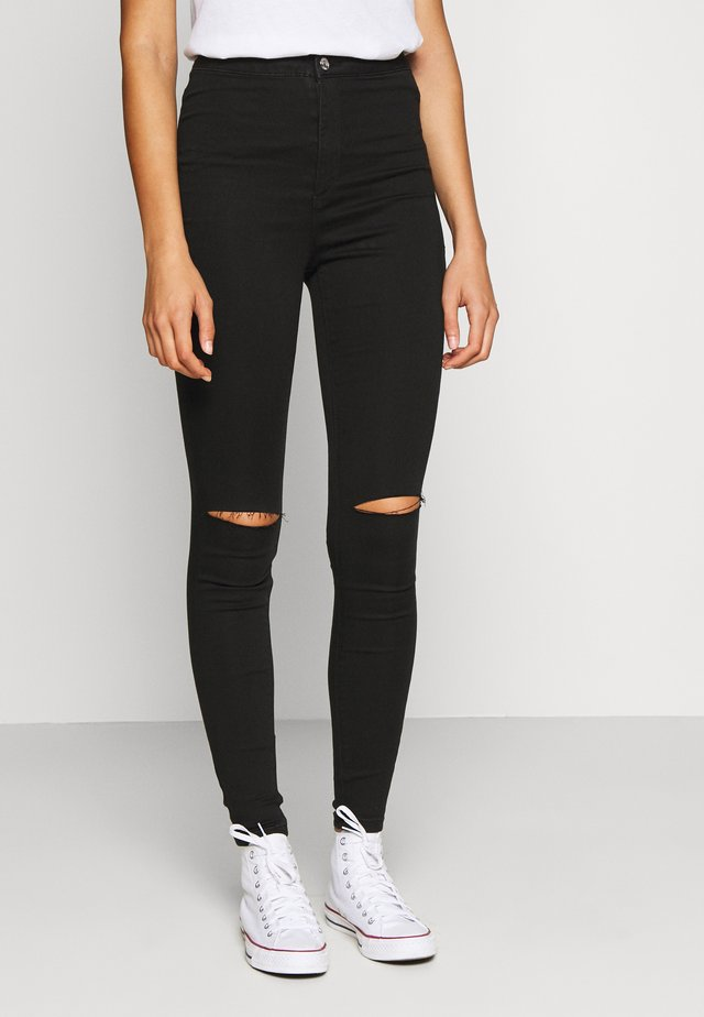 VICE SLASH KNEE  - Jeans Skinny Fit - black