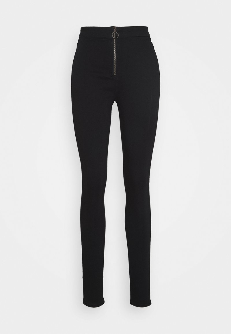 Missguided Tall - RING ZIP OUTLAW JEGGING - Skinny džíny - black