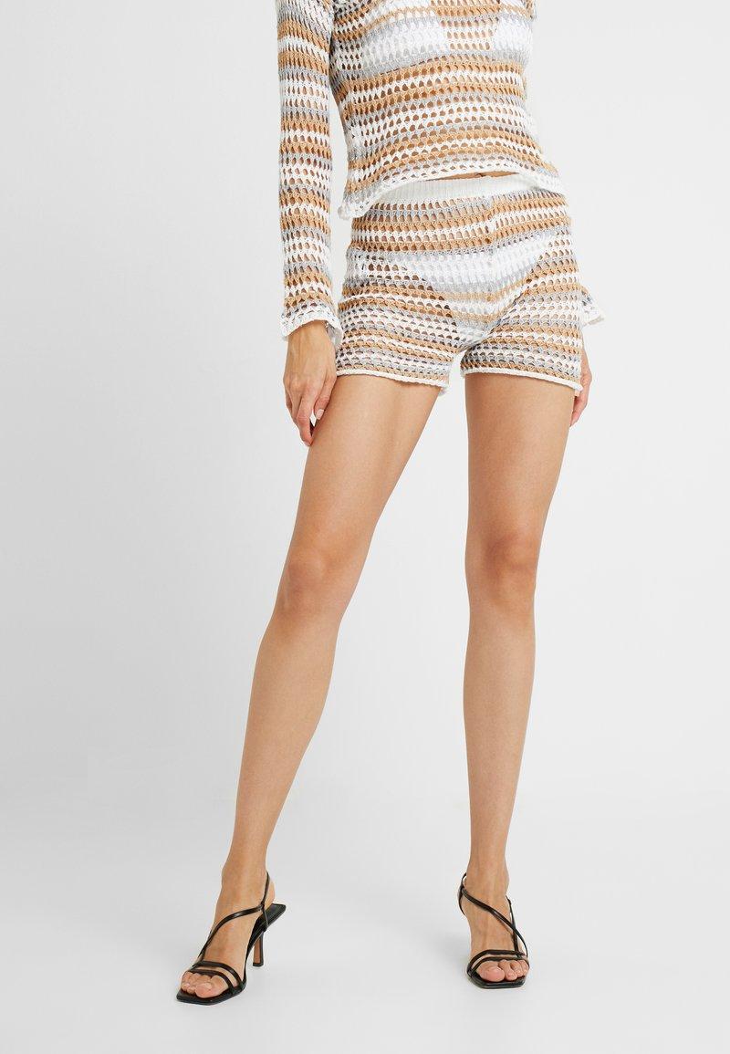 Missguided Tall - RAINBOW STRIPE CROCHET - Shorts - multi-coloured