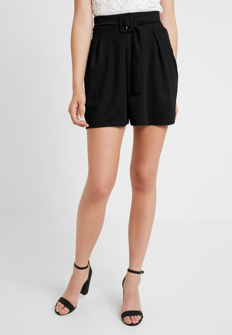 Missguided Tall - BELTED - Shorts - black
