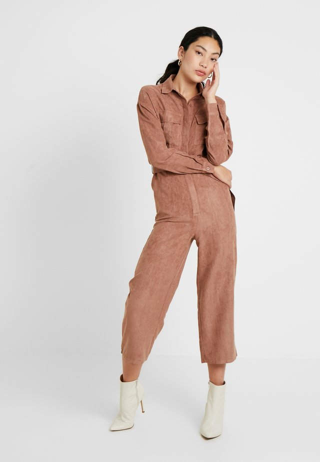 UTILITY BELTED - Tuta jumpsuit - brown