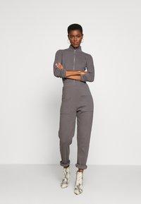 Missguided Tall - RIBBED ZIP DETAIL - Tuta jumpsuit - grey - 1