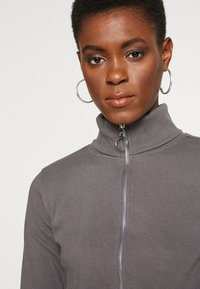 Missguided Tall - RIBBED ZIP DETAIL - Tuta jumpsuit - grey - 3