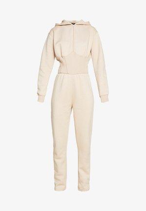 EXCLUSIVE CORSET DETAIL HOODED - Jumpsuit - beige