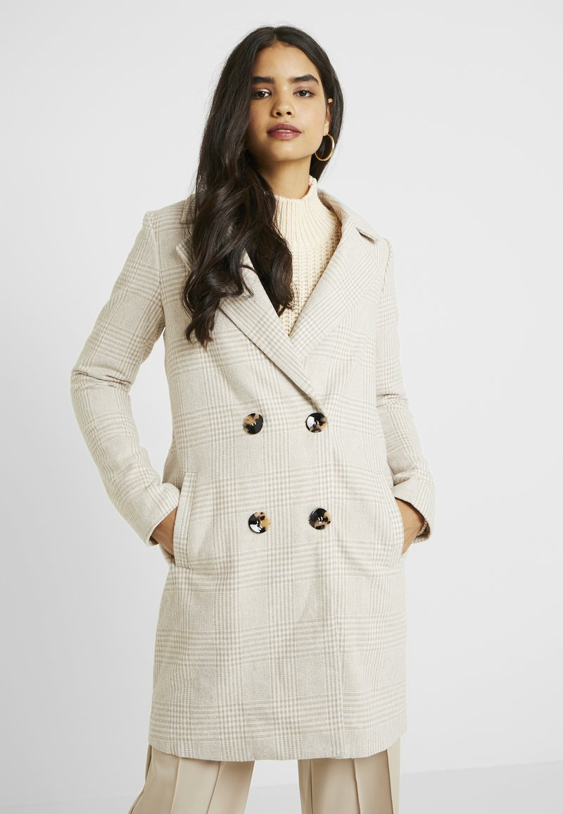 Missguided Tall - CHECK COAT - Classic coat - cream