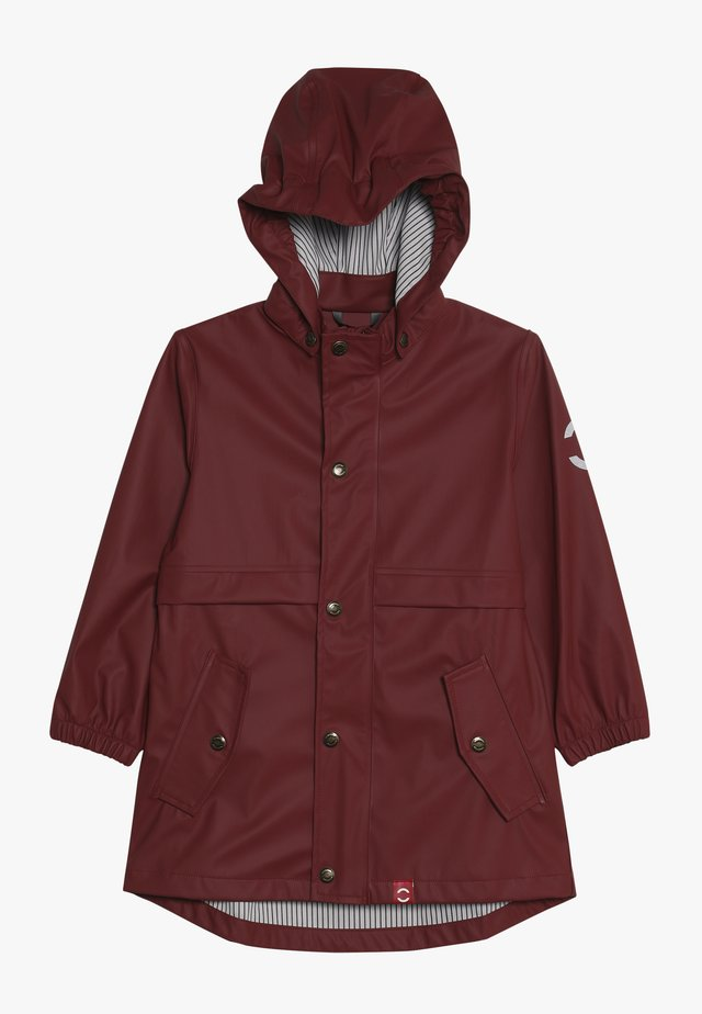 GIRLS RAIN COAT - Vodotěsná bunda - burnt russet