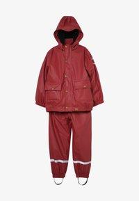 mikk-line - RAIN SET 2-IN-1 - Regnjakke / vandafvisende jakker - burnt russet - 4