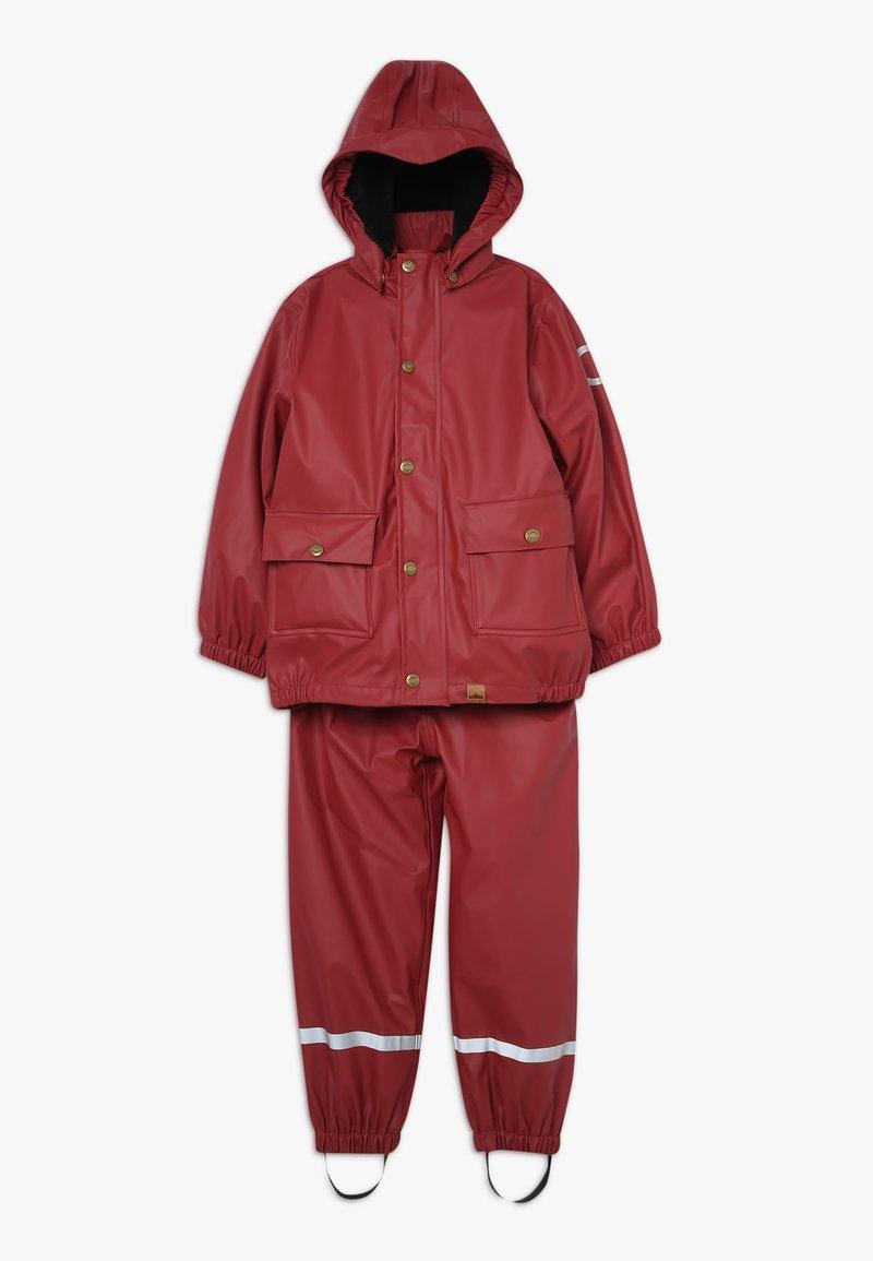 mikk-line - RAIN SET 2-IN-1 - Regnjakke / vandafvisende jakker - burnt russet
