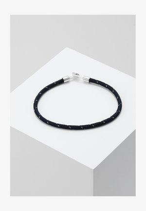 NEXUS ROPE BRACELET - Rannekoru - navy/steel