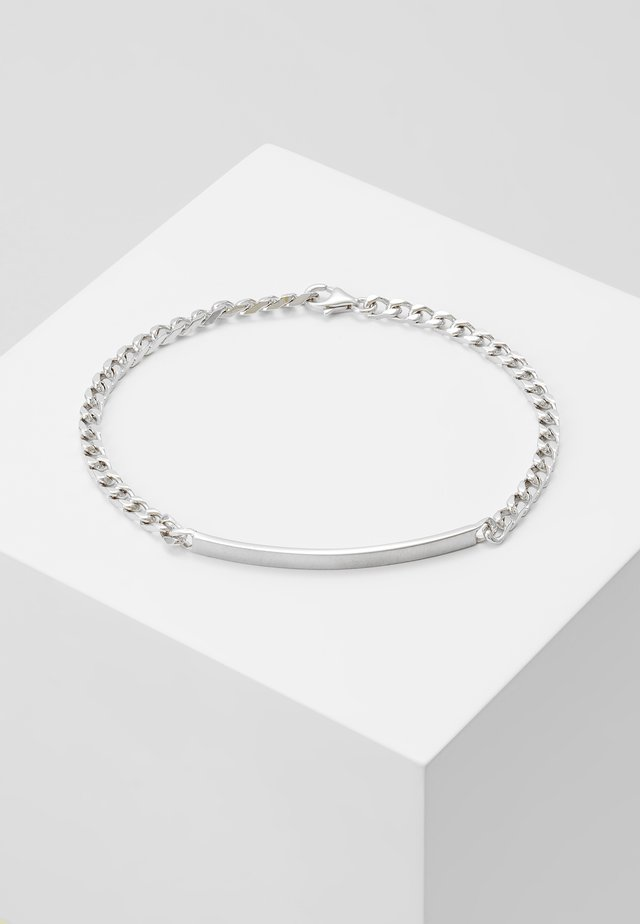 ID CHAIN BRACELET - Bracelet - matte silver