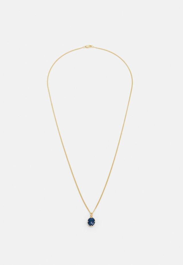 PORTAN PENDANT NECKLACE - Halsband - gold-coloured/blue