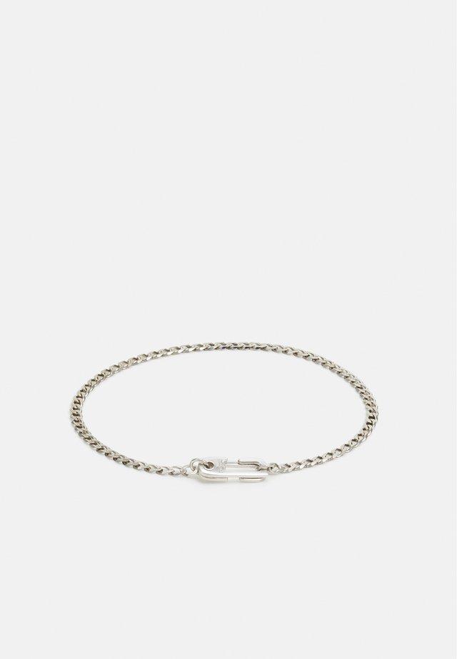 ANNEX CUBAN CHAIN BRACELET - Armband - silver-coloured