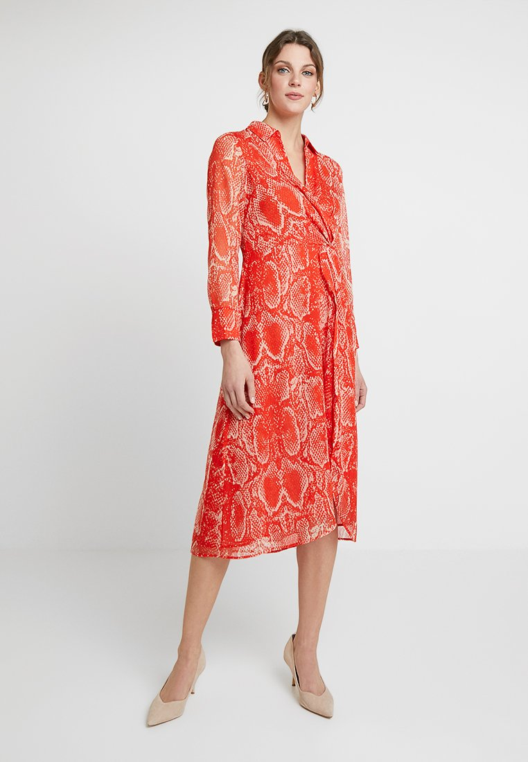 Mint Velvet - TORI TWIST DRESS - Hverdagskjoler - red
