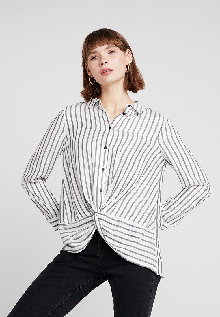 Mint Velvet - TWIST FRONT STRIPE - Button-down blouse - white