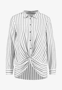 Mint Velvet - TWIST FRONT STRIPE - Skjortebluser - white - 4