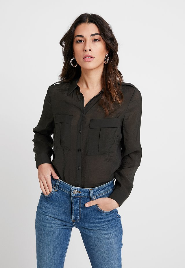 UTILITY - Button-down blouse - dark green