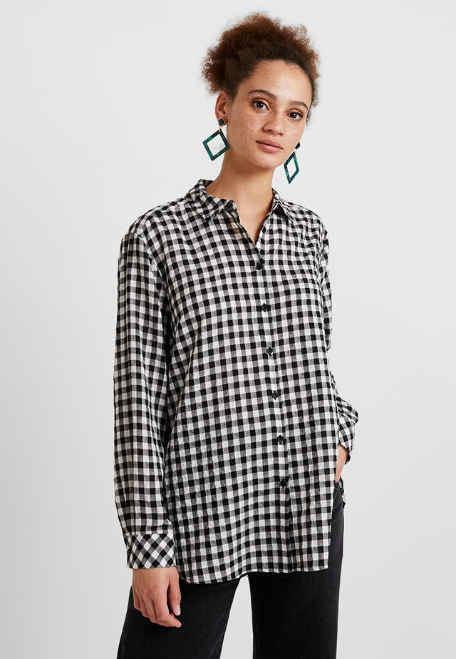 GINGHAM - Blouse - black