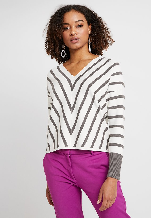 STRIPE - Jumper - off-white