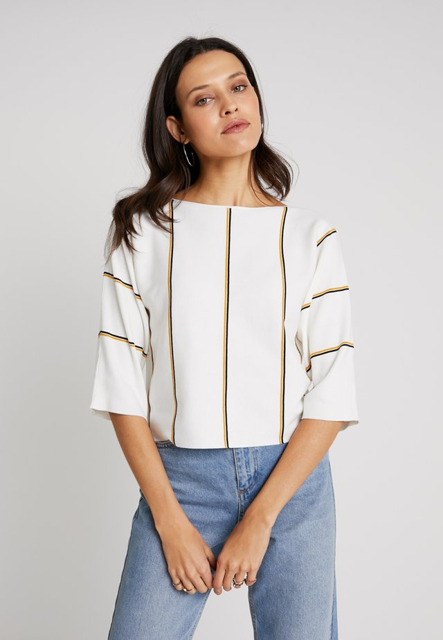 VERTICAL STRIPED - Jumper - offwhite