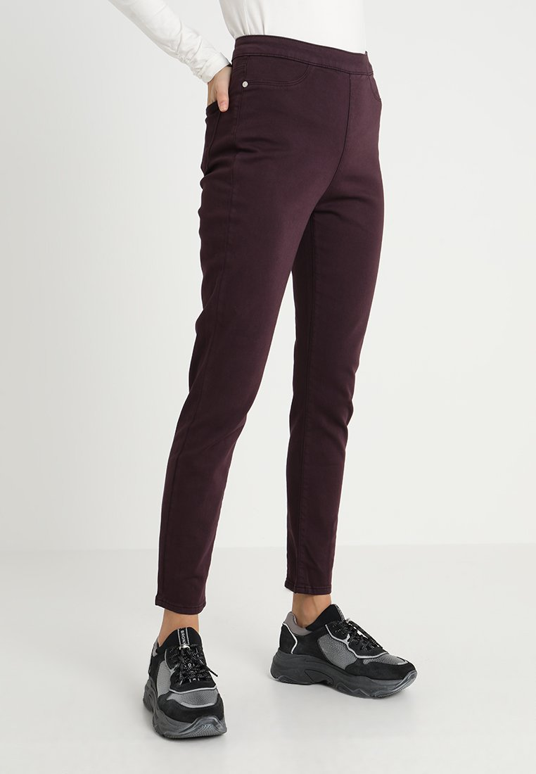 Mint Velvet - ZIP ANKLE - Trousers - dark red