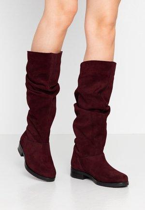 Stivali alti - burgundy