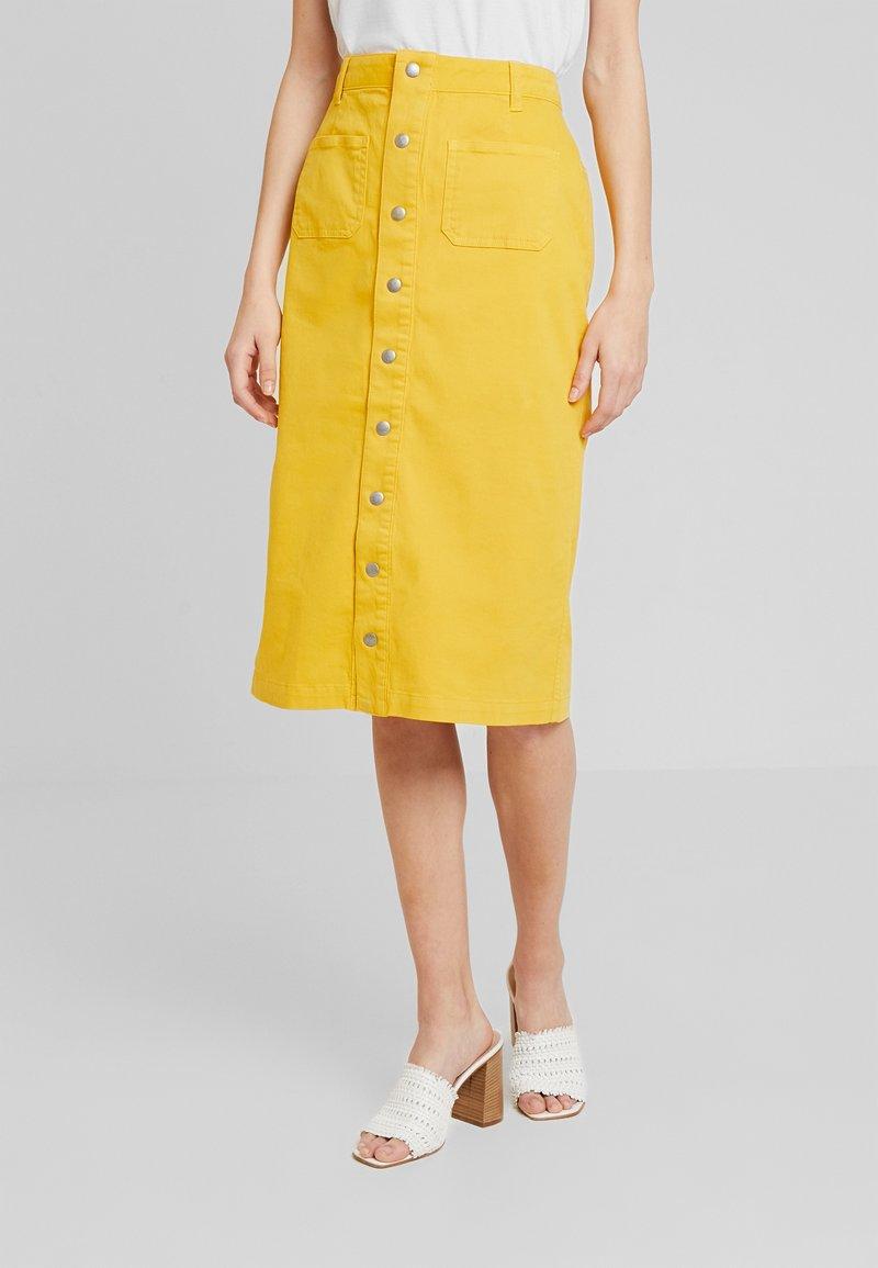 Miss Green - BEAUTIFUL MORNING - A-line skirt - golden rod