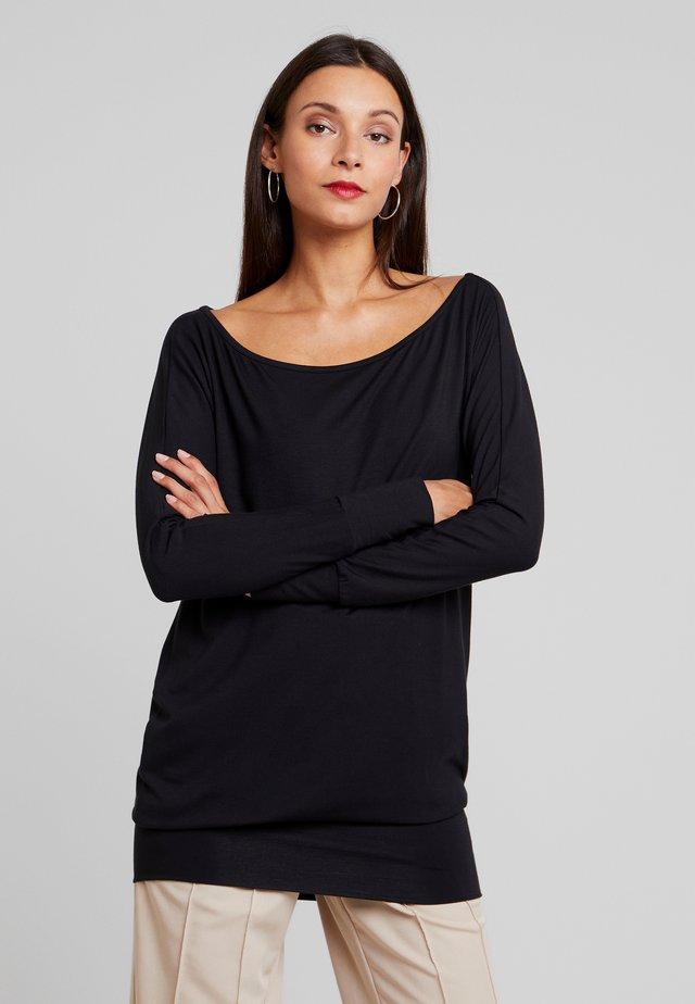 ESTHER - T-shirt à manches longues - black