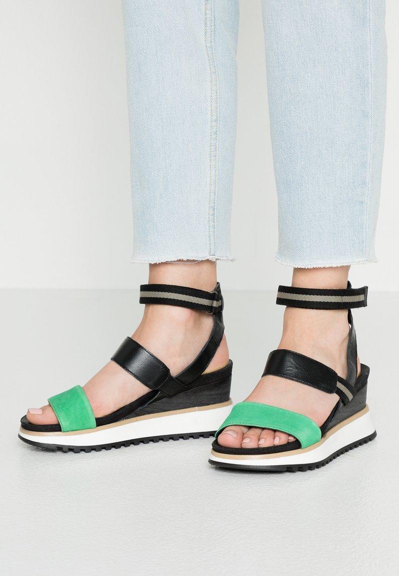 MJUS - Platform sandals - menta