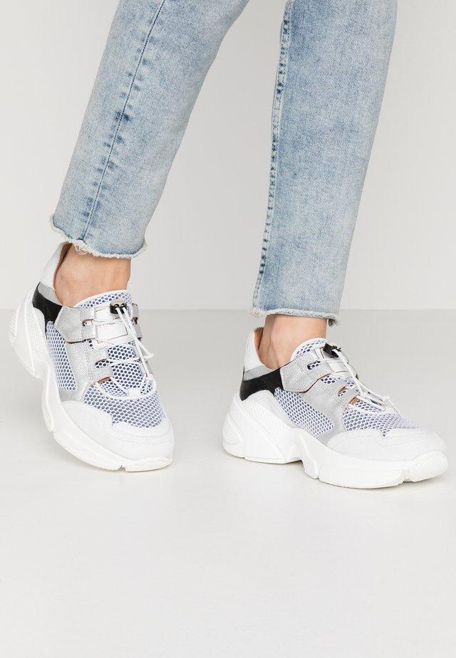 Sneaker low - white/bianco/argento/nero