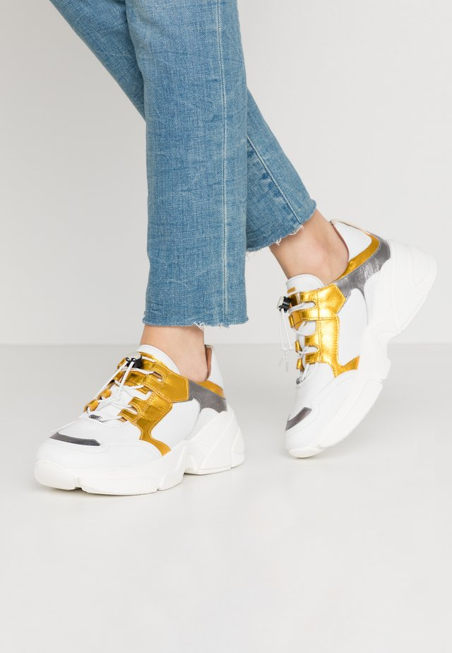 Sneaker low - bianco/inox lemon