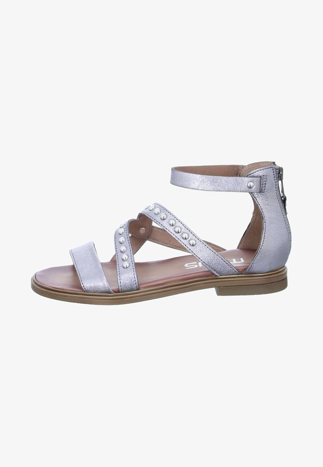 Ankle cuff sandals - silver/grey