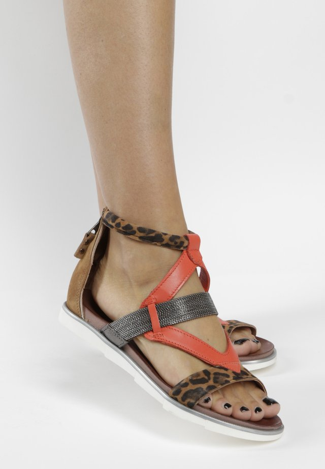 Ankle cuff sandals - sand