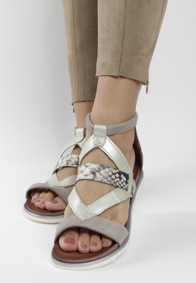 Ankle cuff sandals - grey