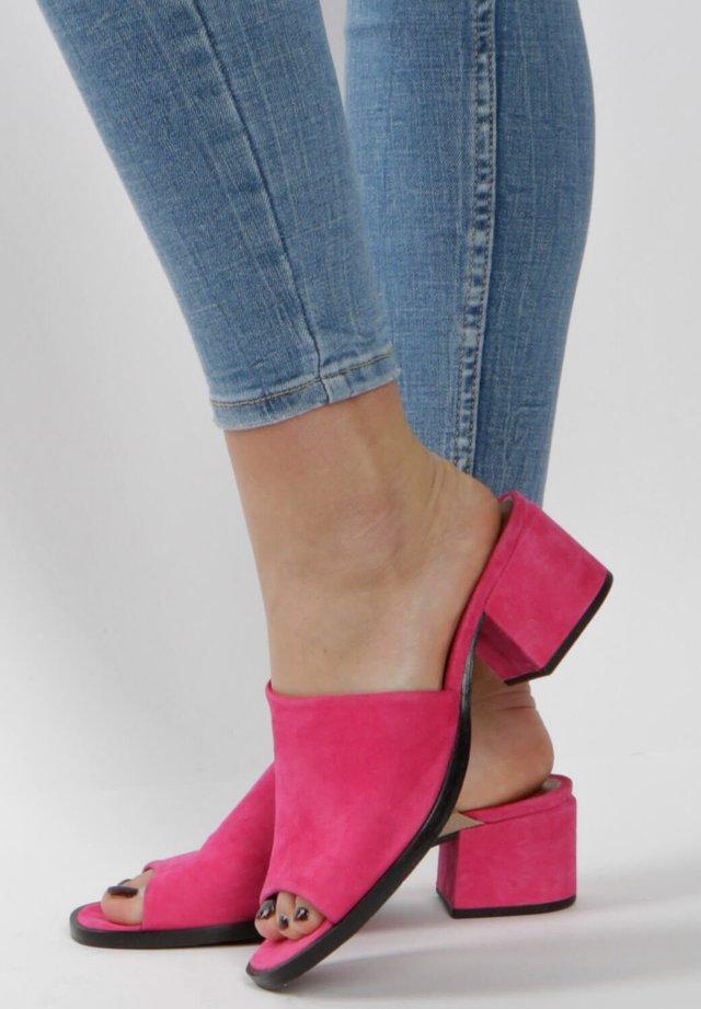 MJUS - Heeled mules - pink
