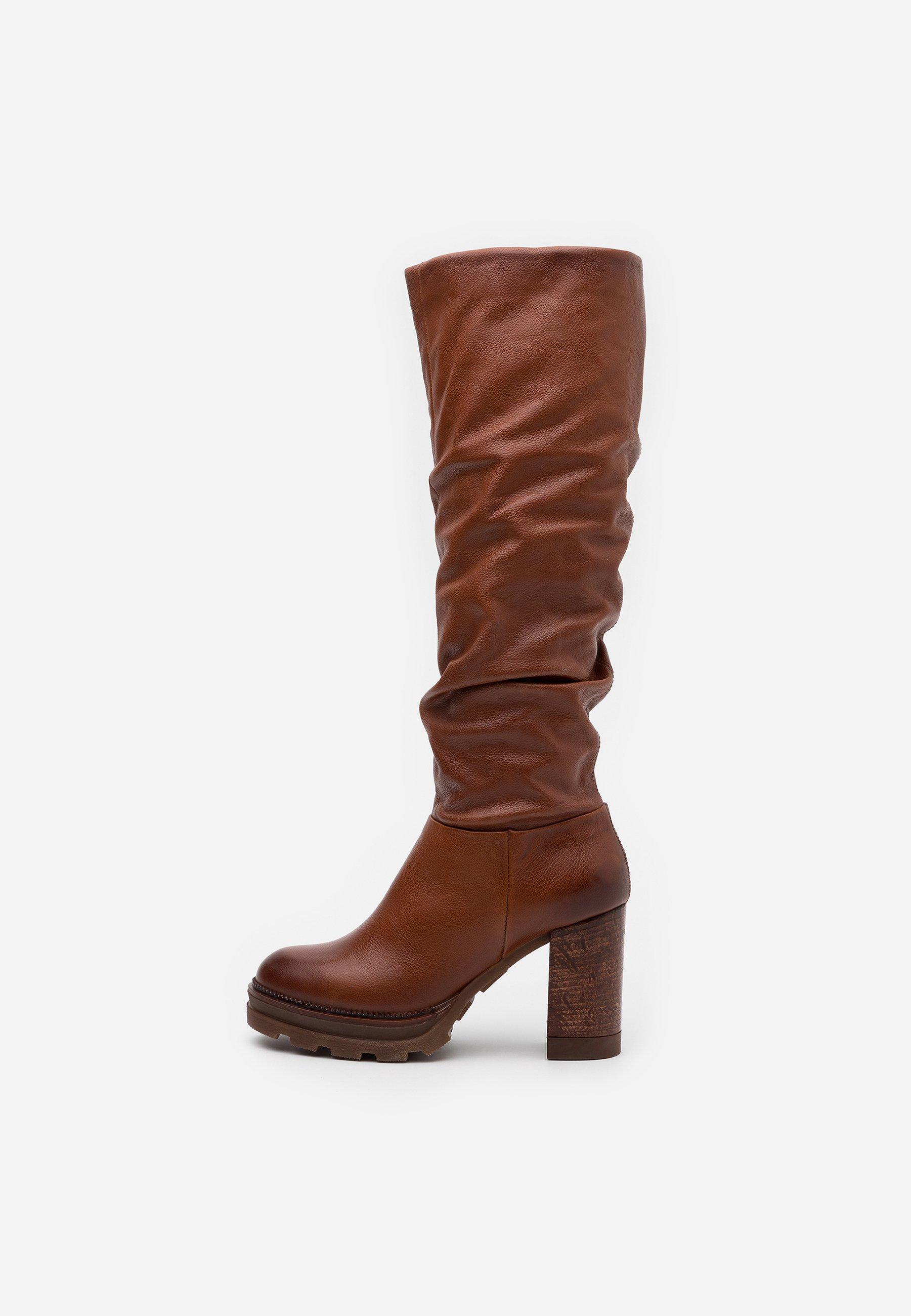 MJUS High Heel Stiefel - mustard 5dZfS1
