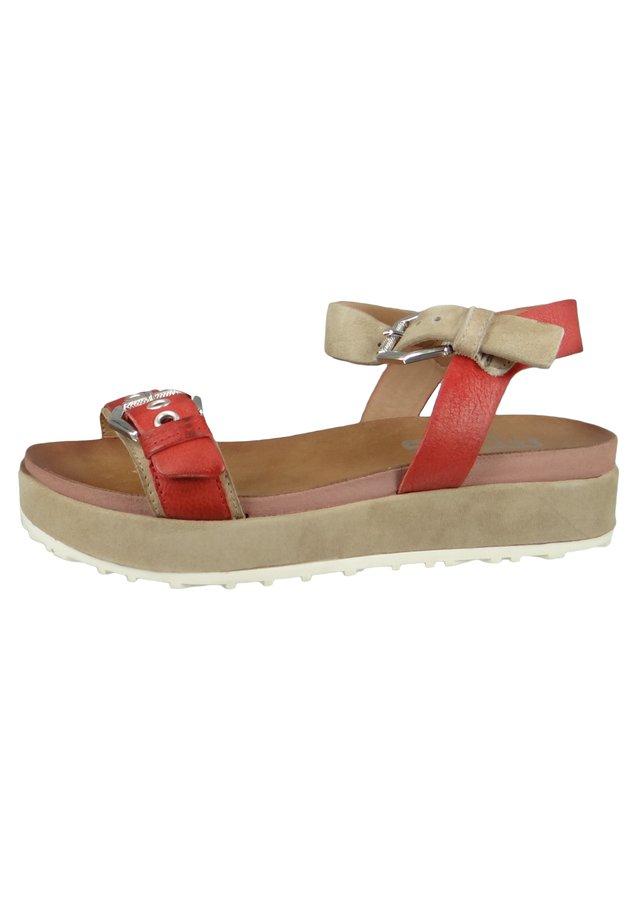 SOS - Platform sandals - tomato