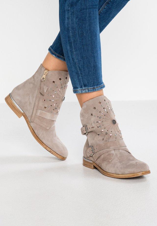 Cowboy/biker ankle boot - opale