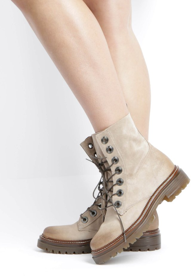Lace-up ankle boots - opale
