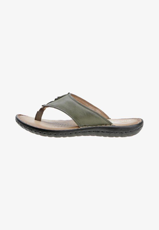 T-bar sandals - green