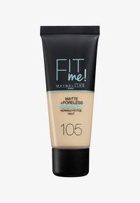 Maybelline New York - FIT ME MATTE & PORELESS MAKE-UP - Foundation - 105 light - 0