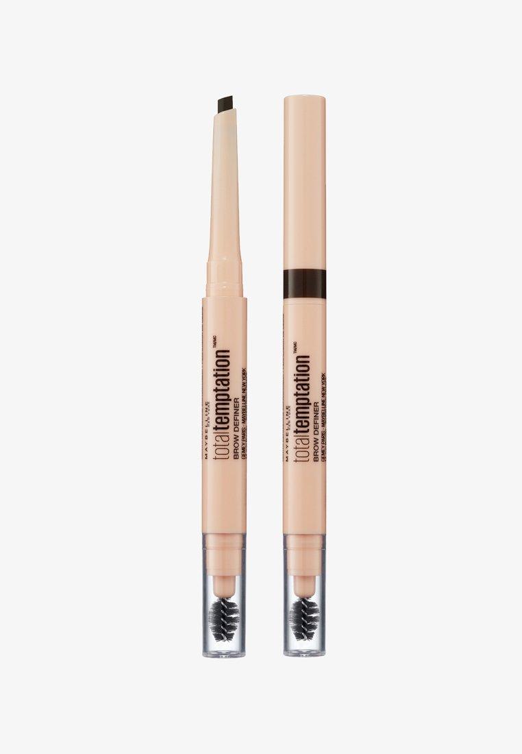 Maybelline New York - TOTAL TEMPTATION BROW DEFINER - Augenbrauen Make-up - 130 deep brown