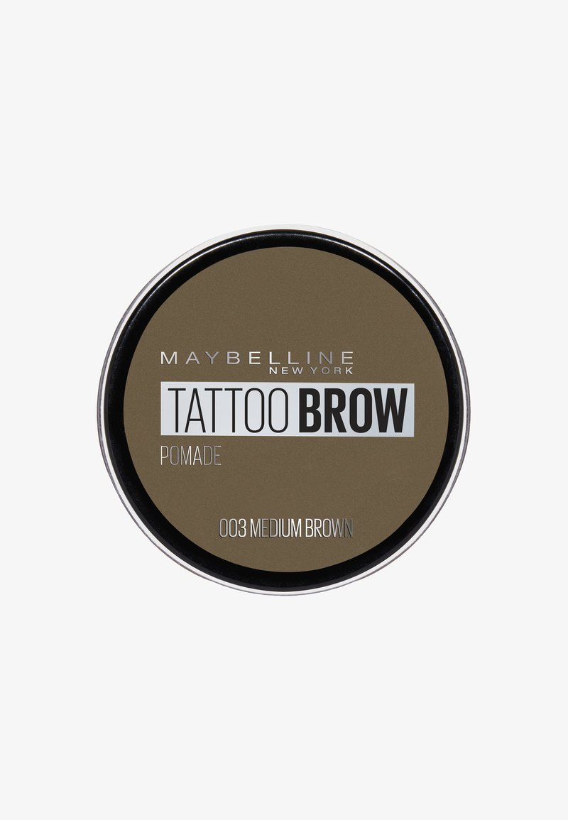 Maybelline New York - TATTOO BROW POMADE - Eyebrow powder - 003 medium brown
