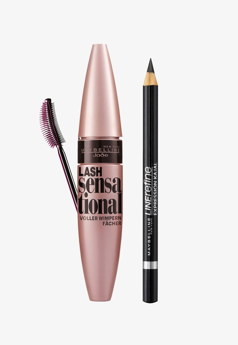 Maybelline New York - LASH SENSATIONAL MASCARA MIT GRATIS KAJAL GESCHENKSET - Make-up Set - black