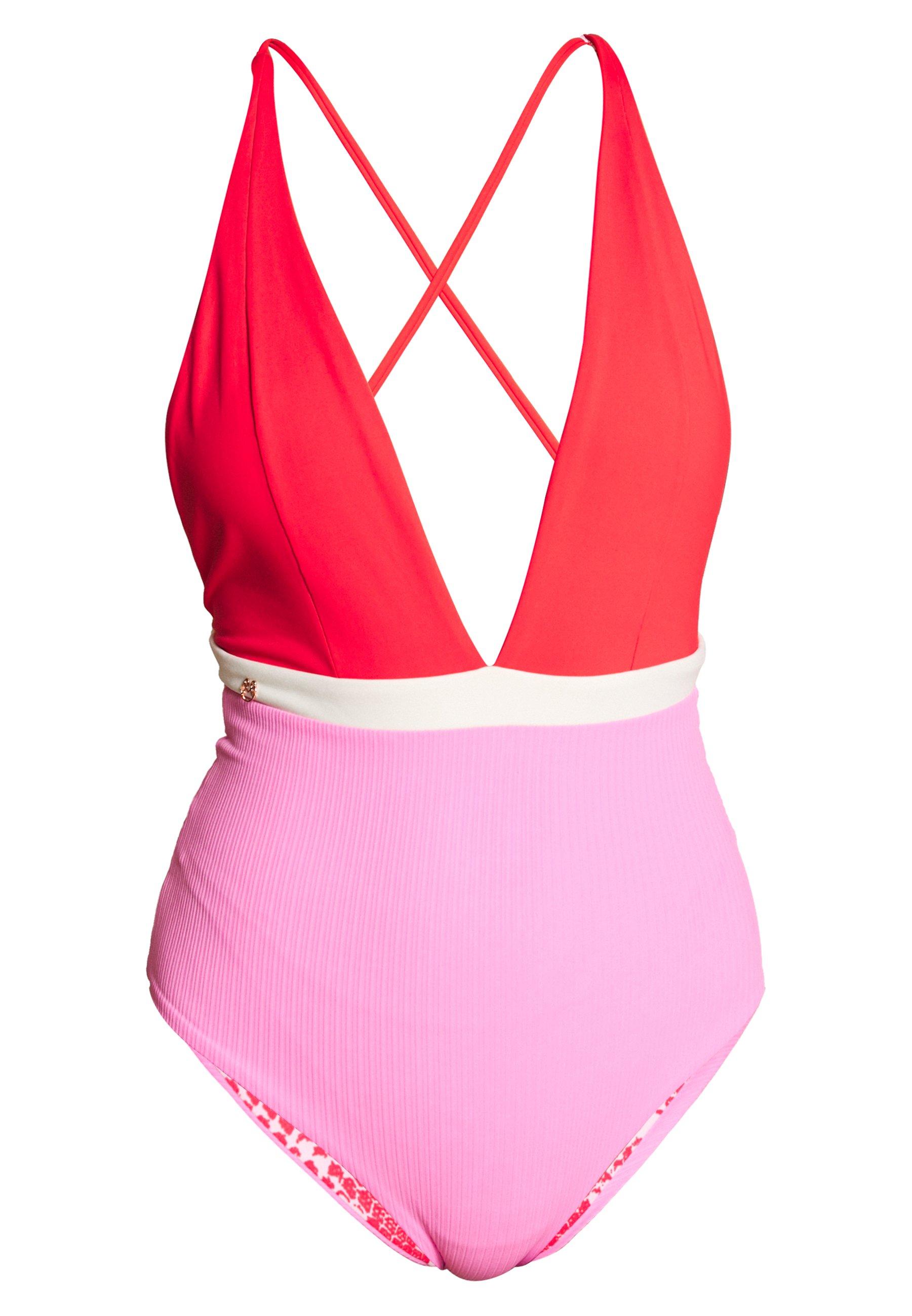Maaji Valentine Rainbowplunge Onepiece - Costume Da Bagno Red cYr6IvW