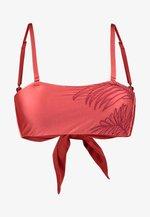SANGRIA THE BEVERLY BANDEAU - Bikini top - open red