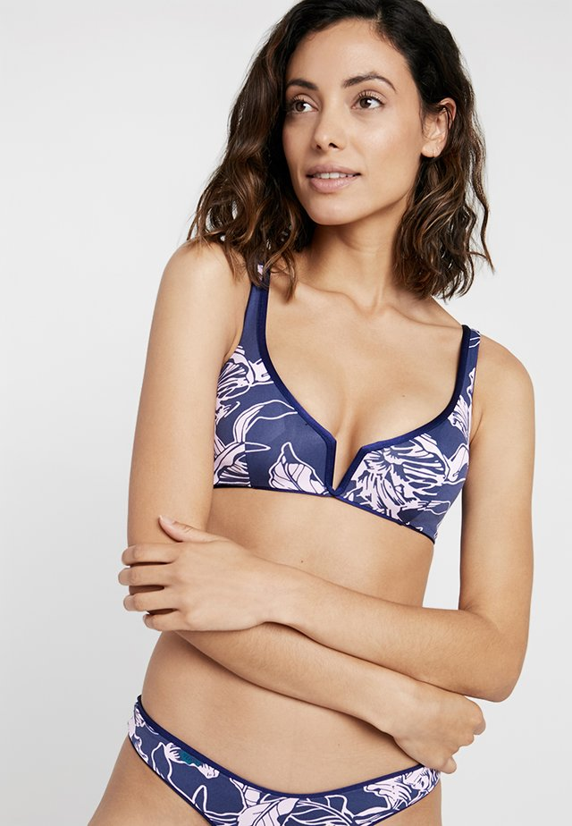 DEPTH VICTORY FIXED HALTER - Bikini-Top - navy