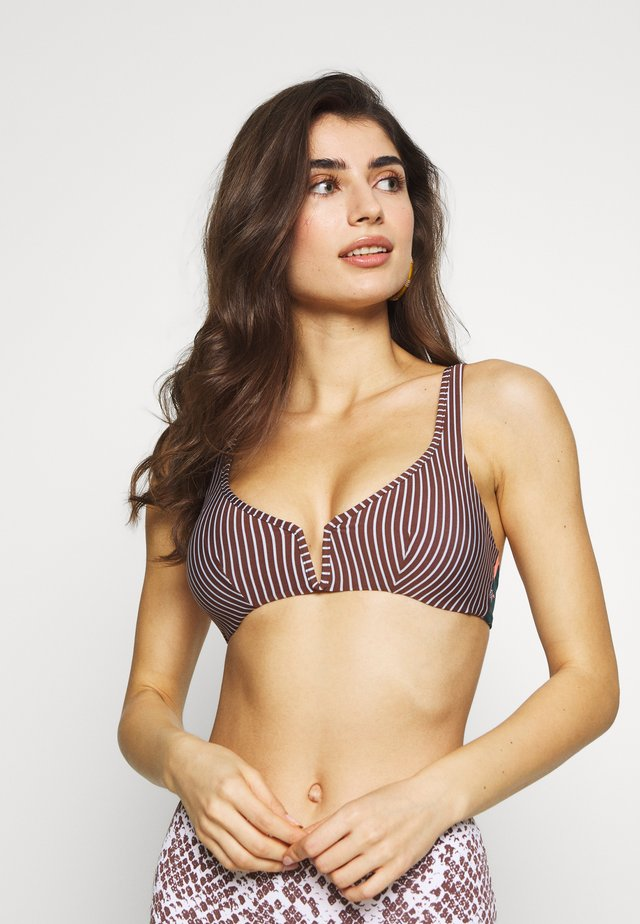 MOON & SEA VICTORY HALTER - Bikini top - multi