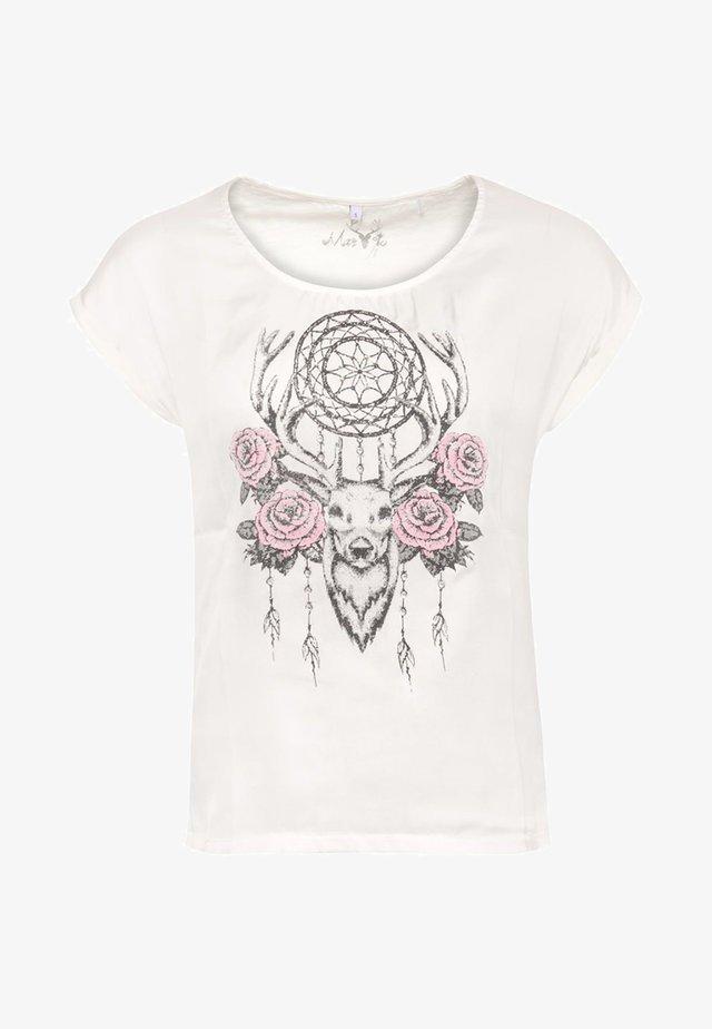 BOHO - Print T-shirt - white