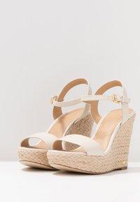 MICHAEL Michael Kors - JILL WEDGE - High heeled sandals - light cream - 4