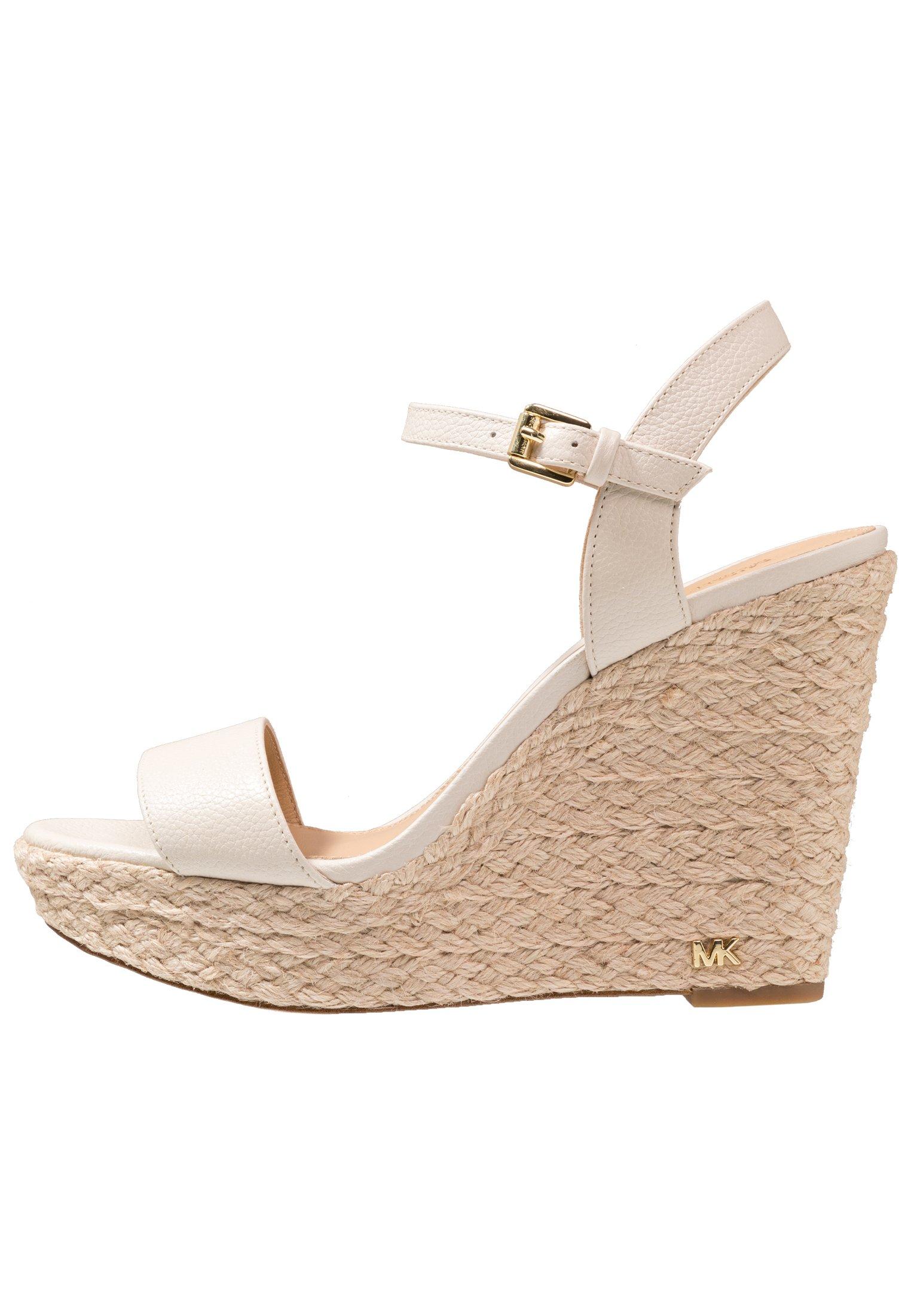 MICHAEL Michael Kors JILL WEDGE - Højhælede sandaletter / Højhælede sandaler - light cream